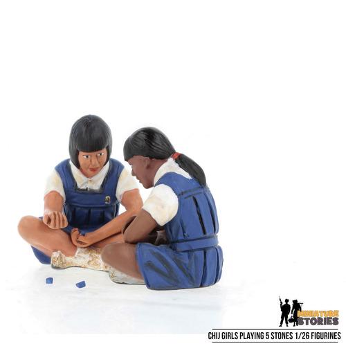 CHIJ Girls Playing Five Stones Figurines