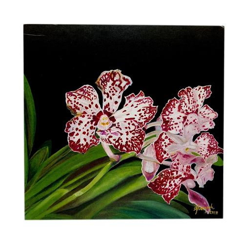 Sketches Of Singapore Series Orchid Postcards - Vanda William Catherine by Glacy Soh