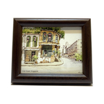 Mini Artframe Water Colour Magnet: Club Street, Singapore by Loy Chye Chuan