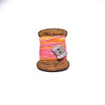 Handmade Brooch: Flat Thread Spool (Striped Pink) by Doe & Audrey