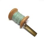 Handmade Brooch: Small Thread Spool (Plain Light Blue) by Doe & Audrey