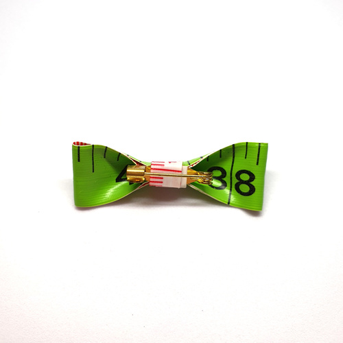 Handmade Accessories Measuring Tape Ribbon Brooches Green 2 by Doe & Audrey