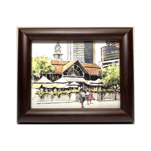 Mini Artframe Water Colour Magnet: Lau Pa Sat by Loy Chye Chuan