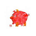 Chinese Chinese Zodiac Postcard Year of the Pig by Patrick Yee