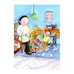 Heritage Postcard Majie & Child with Goldfish Lantern by Patrick Yee