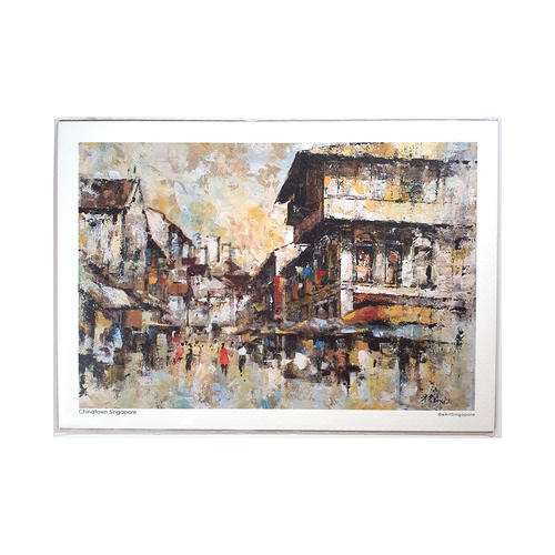 Heritage Watercolour A5 Print: Chinatown Singapore by Loy Chye Chuan