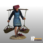 Samsui Woman Carrying Building Materials Figurine