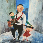Original Heritage Painting Majie with Baby by Patrick Yee