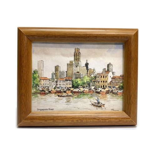 Mini Artframe Water Colour Magnet: Singapore River by Loy Chye Chuan