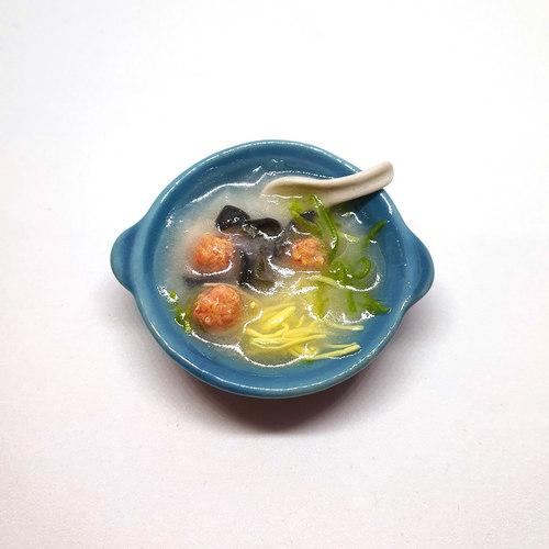 Handmade Miniature: Century Egg Porridge by Madam Ang Miniature World