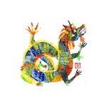 Chinese Zodiac Postcard Year of the Dragon by Patrick Yee