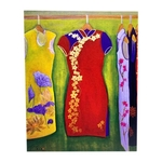 Sketches Of Singapore Series Chinese New Year Postcard - Festive CNY Wear by Glacy Soh