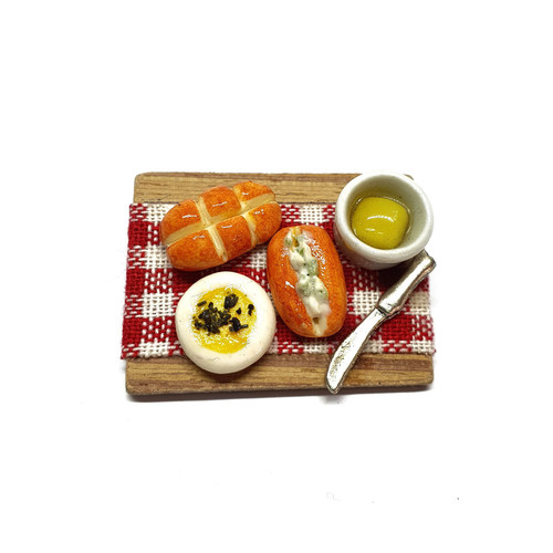 Bread with Butter Spread Miniature