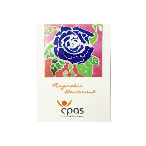 Magnetic Bookmark Blue Rose by CPAS GROW Artists
