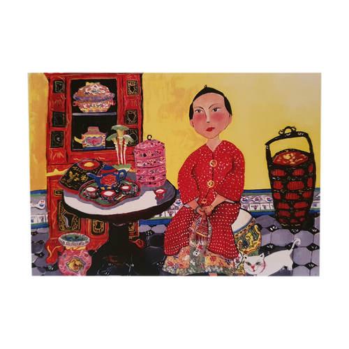 Heritage Postcard Peranakan Lady by Patrick Yee