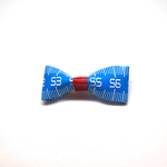Handmade Accessories Measuring Tape Ribbon Brooches Blue 1 by Doe & Audrey