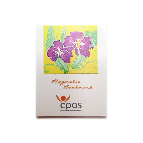 Magnetic Bookmark: Two Purple Flowers by CPAS GROW Artists