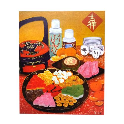 Sketches Of Singapore Series Chinese New Year Postcard - Festive Kuehs by Glacy Soh