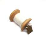 Handmade Brooch: Small Thread Spool (Plain White) by Doe & Audrey