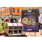 Singapore Chinatown Shophouse Paper Model Kit 2 Commercial - First Transitional Shophouse Style Early 1900s