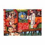Heritage Postcard Chinese Opera Landscape by Patrick Yee