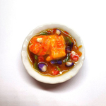Handmade Miniature: Curry Fish Head by Madam Ang Miniature World