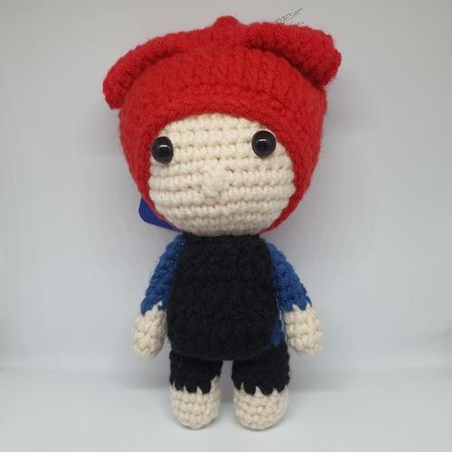 Crochet Mini Samsui Women Doll Keychain