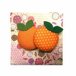 Handmade Brooch: Orange Brooch by Doe & Audrey