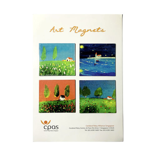 Art Magnet Set 1 by CPAS GROW Artists Set of 4