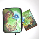 Let Us Consider Book bw Neoprene Holder with Zip KingFisher