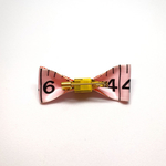 Handmade Accessories Measuring Tape Ribbon Brooches Pink by Doe & Audrey