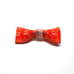 Handmade Accessories Measuring Tape Ribbon Brooches Orange by Doe & Audrey