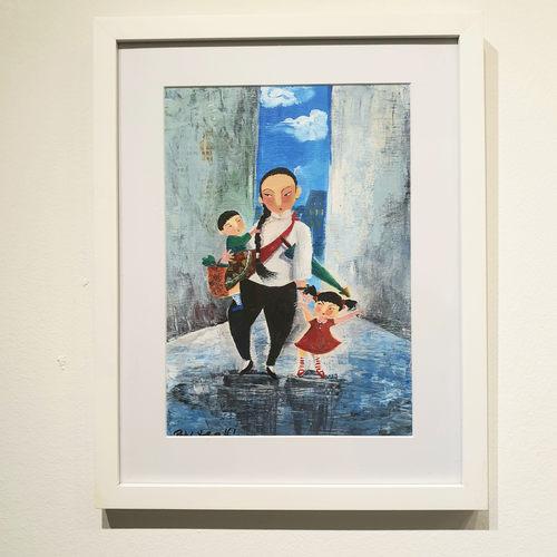 Original Heritage Painting: Majie with Baby by Patrick Yee
