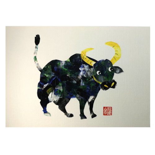 Zodiac Postcard Ox by Patrick Yee