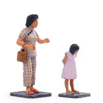 Chinese Woman and Girl Figurines