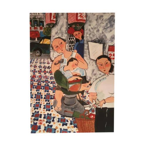 Heritage Postcard Street Barber by Patrick Yee