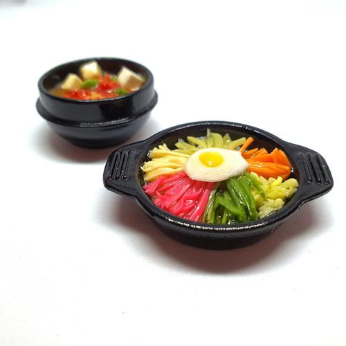 Handmade Miniature: Korean Tofu Stew by Madam Ang Miniature World