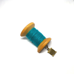 Handmade Brooch: Large Thread Spool (Plain Teal) by Doe & Audrey