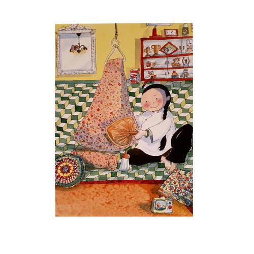 Heritage Postcard Majie with Baby Hammock by Patrick Yee