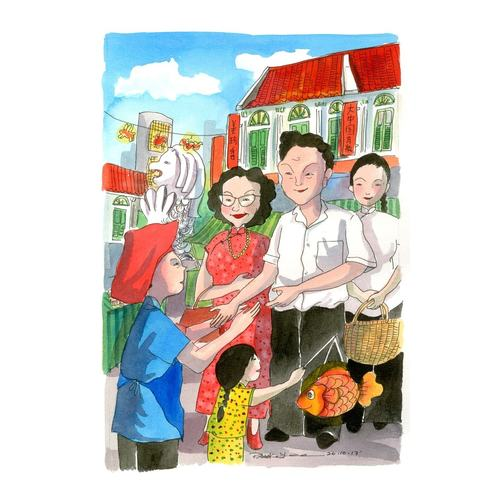 Heritage Print: Celebrating Mid-Autumn by Patrick Yee