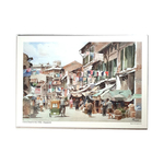 Heritage Watercolour A5 Print China Street in the 1950s by Loy Chye Chuan