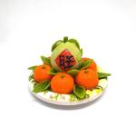Handmade Miniature: Auspicious Pomelo & Mandarin Orange Set  by Madam Ang Miniature World
