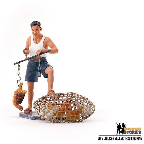Chicken Seller Figurine