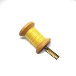 Handmade Brooch: Large Thread Spool (Plain Yellow 1) by Doe & Audrey