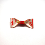 Handmade Accessories Measuring Tape Ribbon Brooches Red 2 by Doe & Audrey