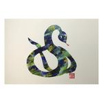 Zodiac Postcard Snake by Patrick Yee