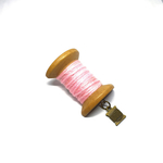Handmade Brooch: Large Thread Spool (Pink 2) by Doe & Audrey