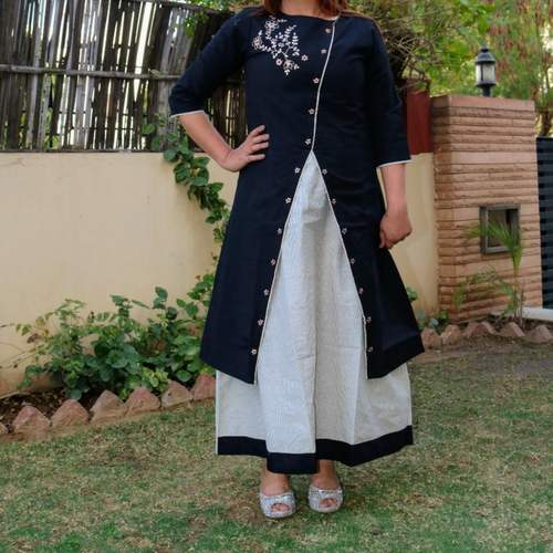 Chanderi Black Dress set of 4 sizes