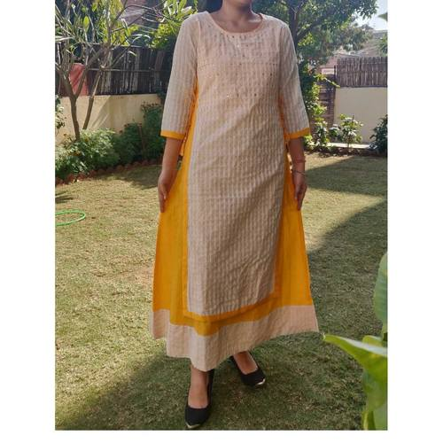 Cotton double layered dress set of 3 sizes