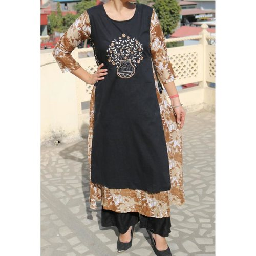 Rayon Embroidered Gown set of  3 sizes